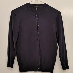 JCrew Tippi button cardigan, size XS, navy